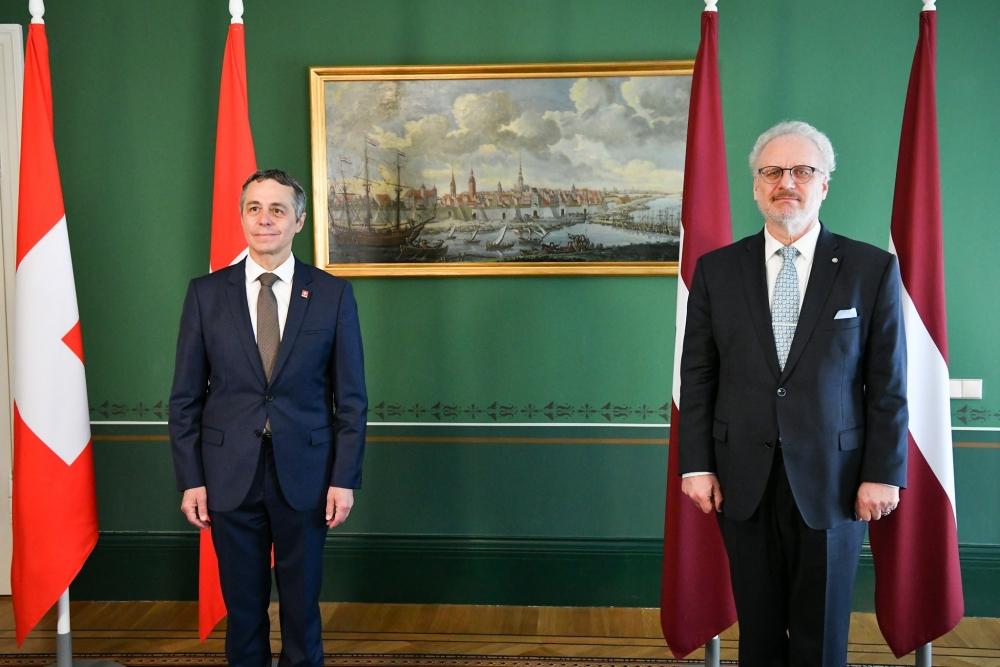 Valsts prezidents: Latviju un Šveici tradicionāli saista labas attiecības
