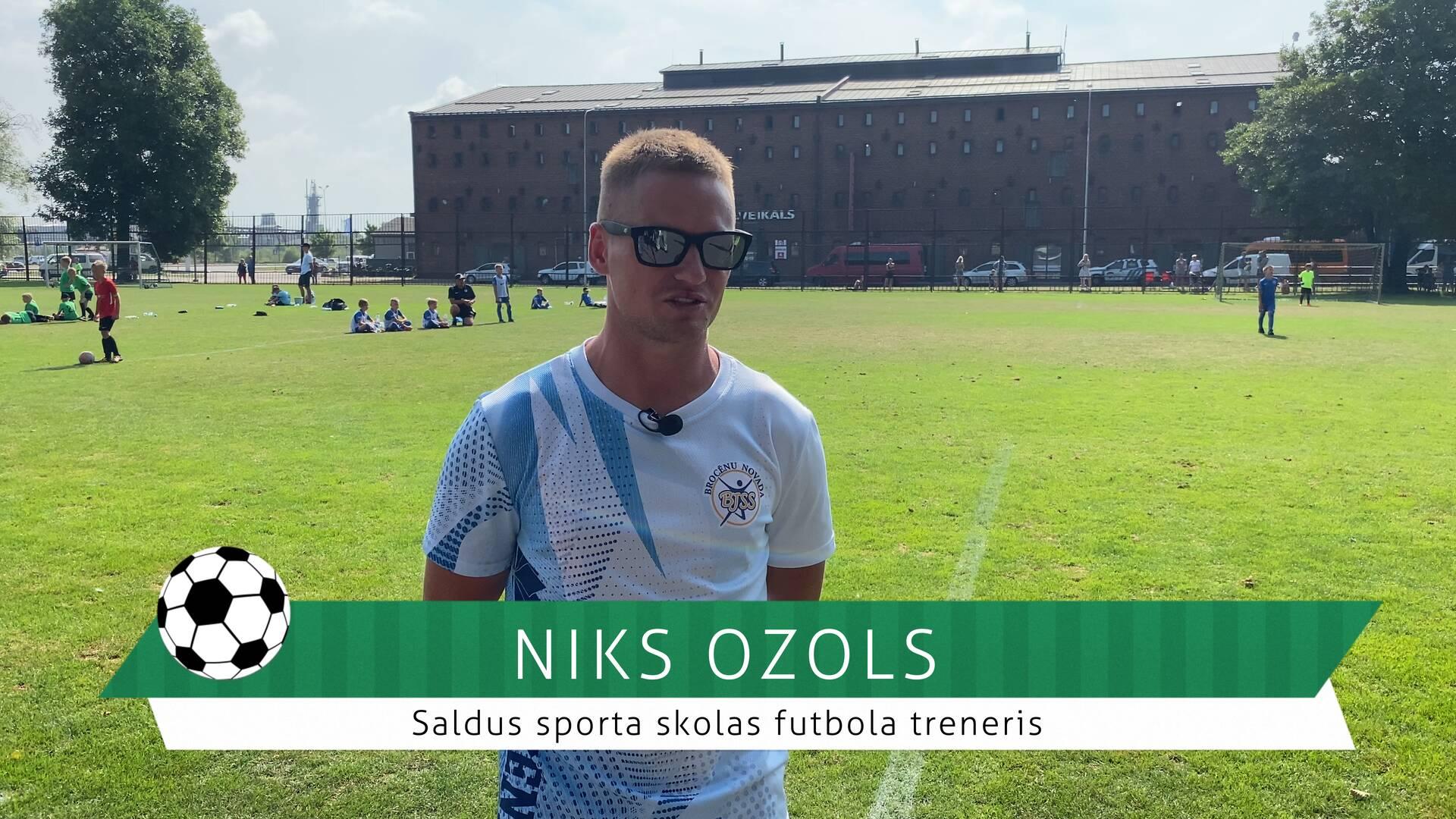 #FutbolsReģionos: saruna ar Saldus sporta skolas futbola treneri Niku Ozolu
