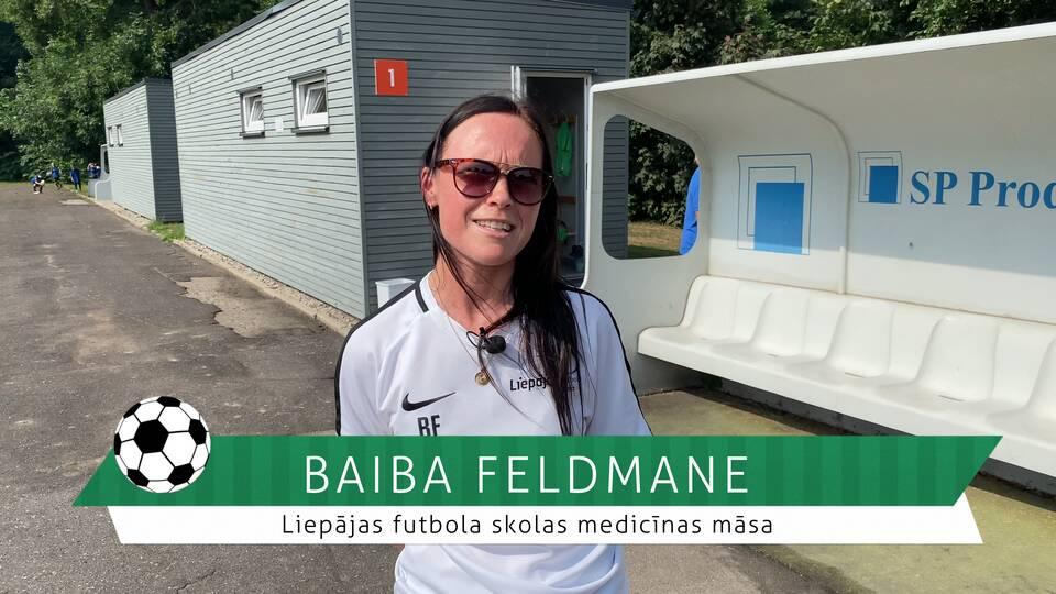 #FutbolsReģionos: saruna ar Liepājas futbola skolas medicīnas māsu Baibu Feldmani