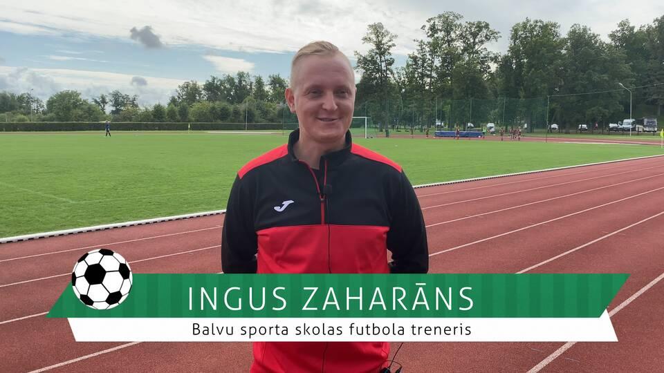 #FutbolsReģionos: saruna ar Balvu sporta skolas futbola treneri Ingusu Zaharānu