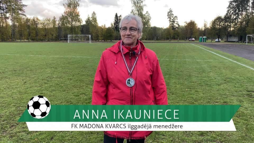 #FutbolsReģionos: leģendārā un ilggadējā FK MADONA KVARCS menedžere Anna Ikauniece